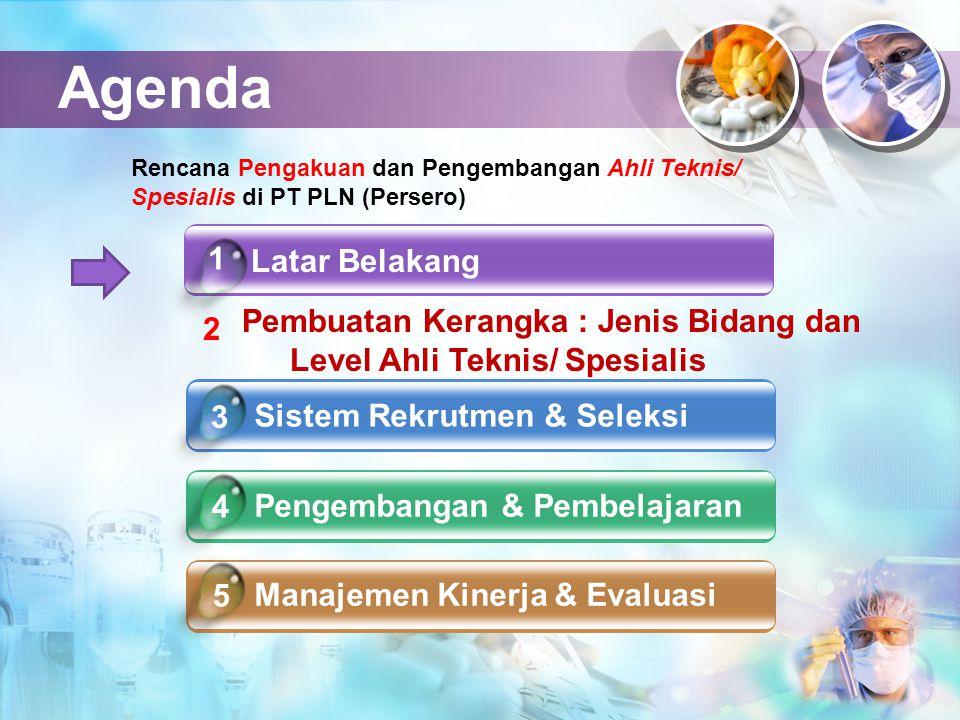 Agenda Rencana Pengakuan dan Pengembangan Ahli Teknis/ Spesialis di PT PLN (Persero) 1. Latar Belakang.
