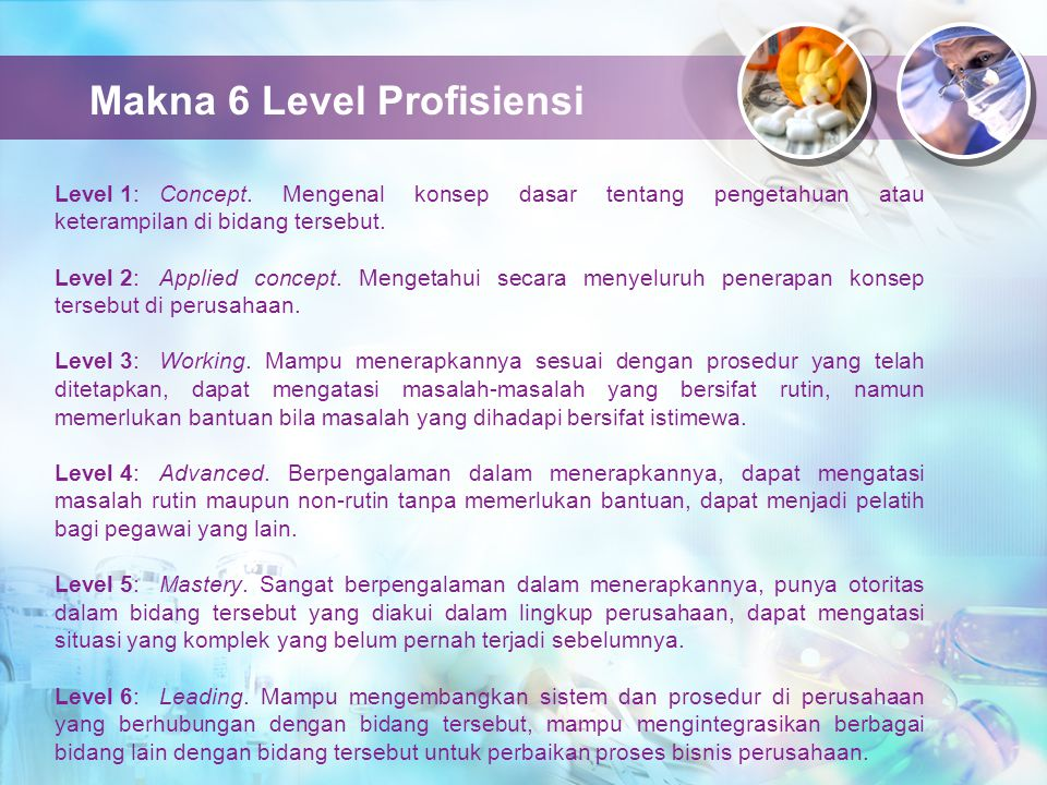 Makna 6 Level Profisiensi