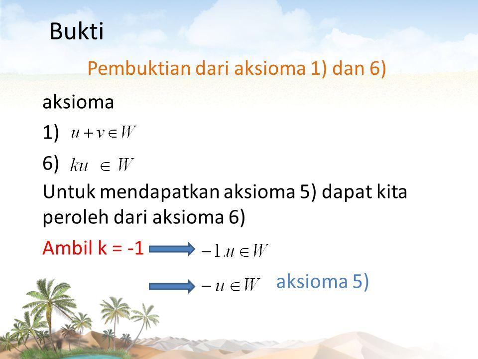 Pembuktian dari aksioma 1) dan 6)