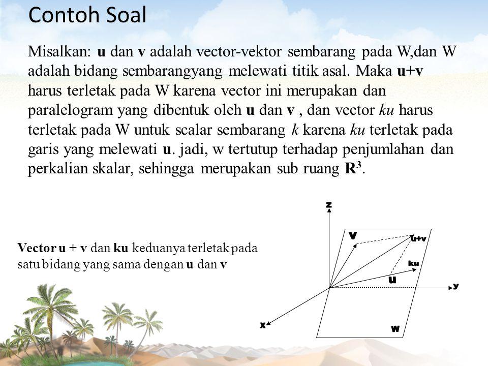 Contoh Soal z v u+v ku u y x W