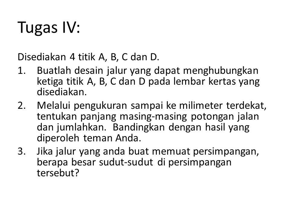 Tugas IV: Disediakan 4 titik A, B, C dan D.
