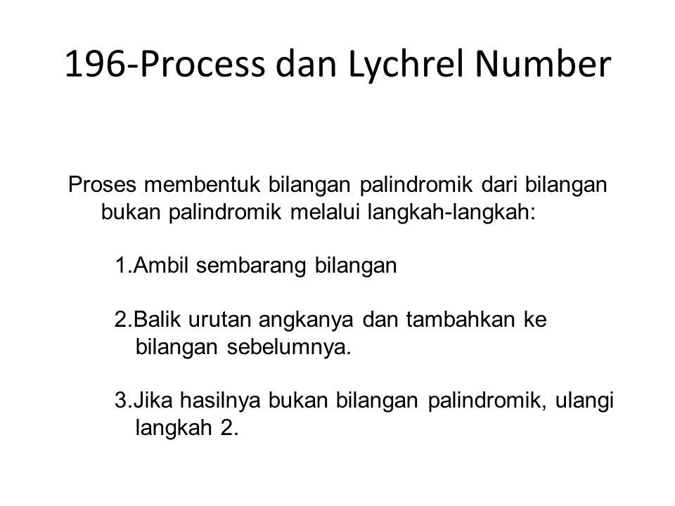 196-Process dan Lychrel Number