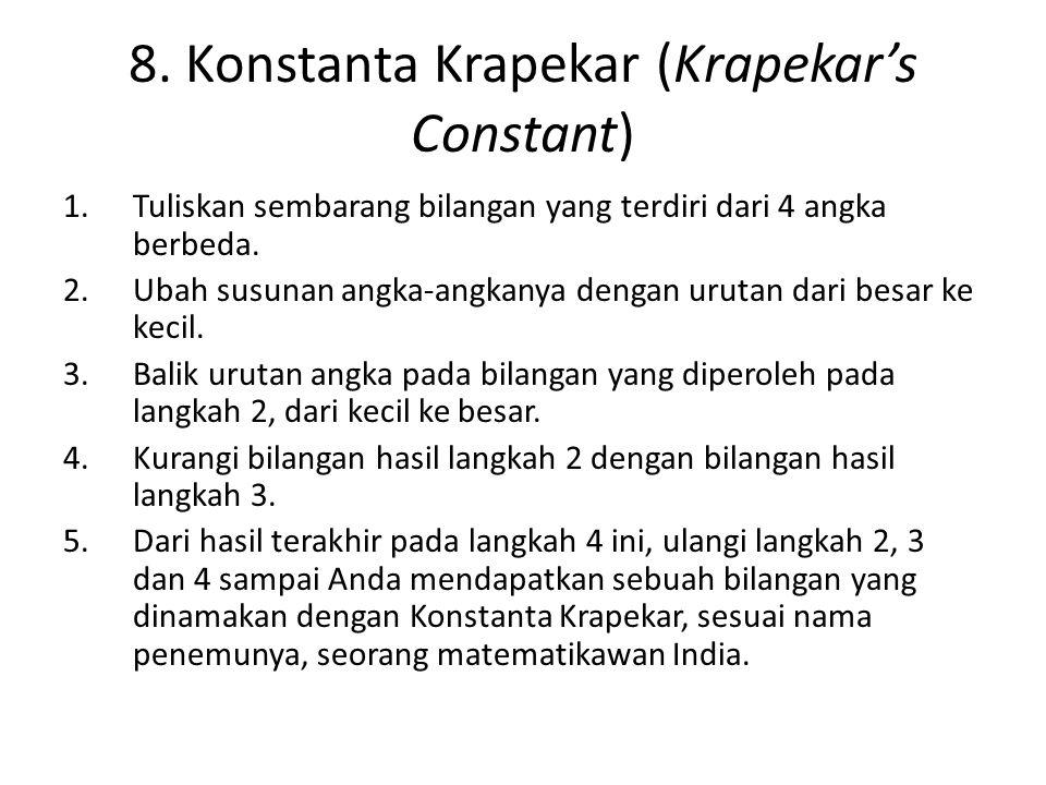 8. Konstanta Krapekar (Krapekar's Constant)