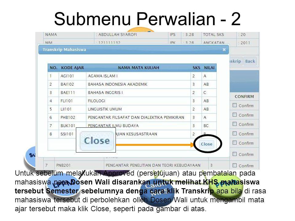 Submenu Perwalian - 2