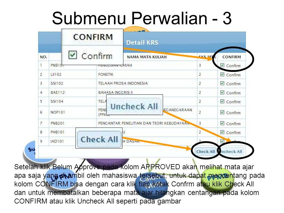 Submenu Perwalian - 3