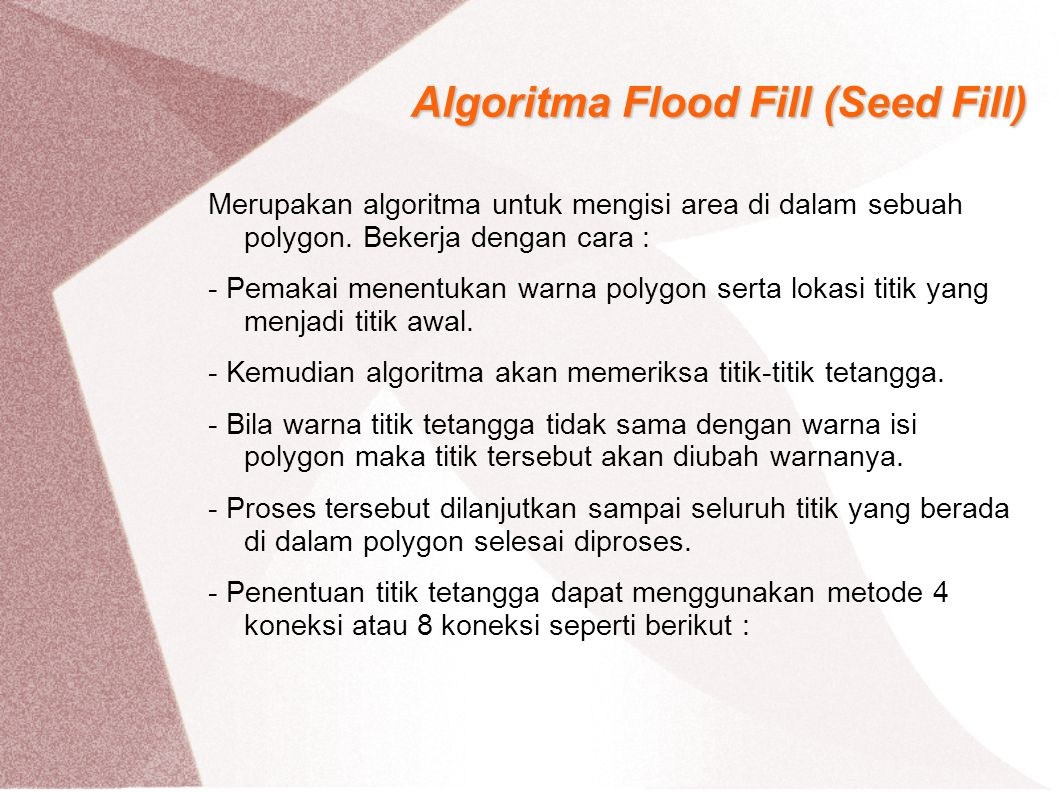 Algoritma Flood Fill (Seed Fill)
