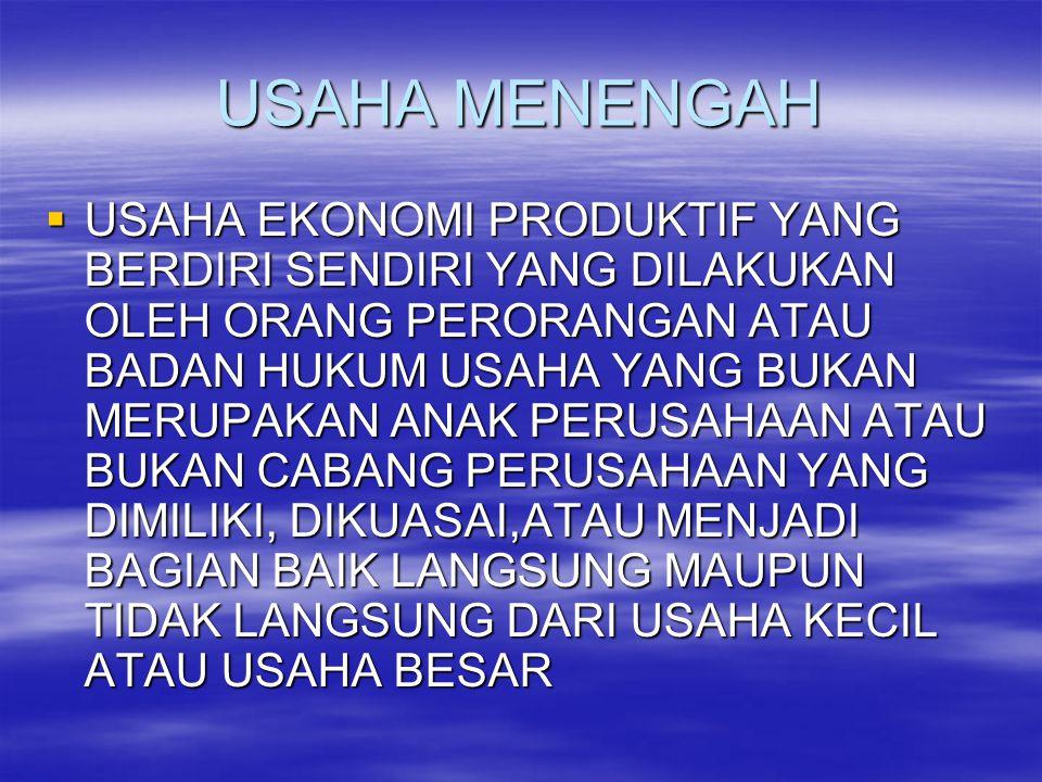 USAHA MENENGAH