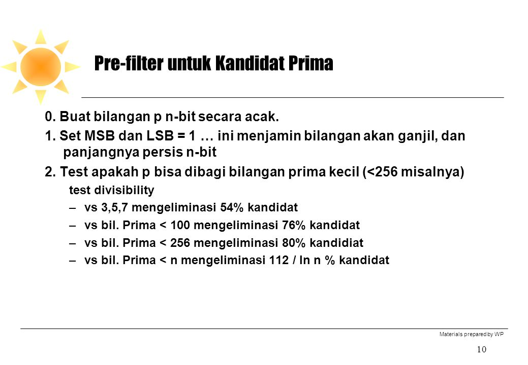 Pre-filter untuk Kandidat Prima