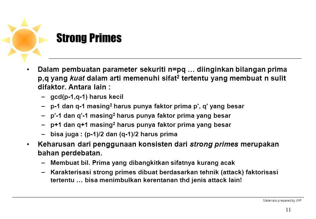 Strong Primes
