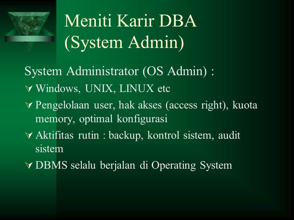 Meniti Karir DBA (System Admin)