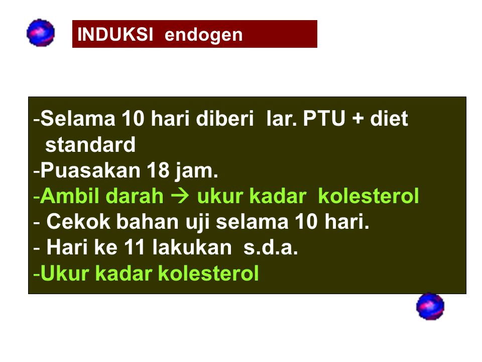 Selama 10 hari diberi lar. PTU + diet standard Puasakan 18 jam.