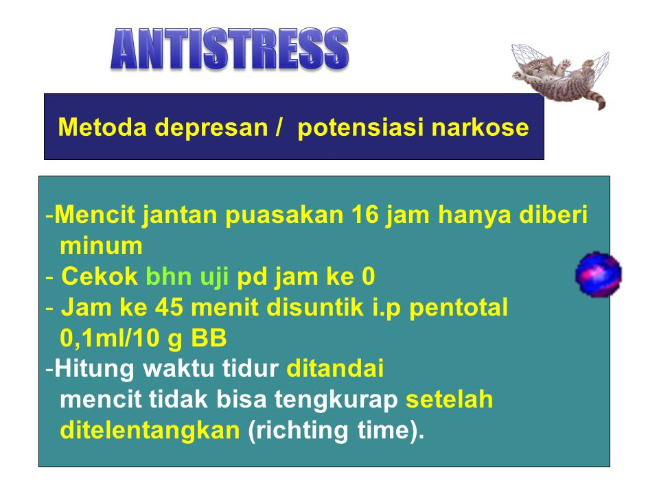 Metoda depresan / potensiasi narkose