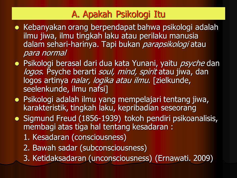 A. Apakah Psikologi Itu