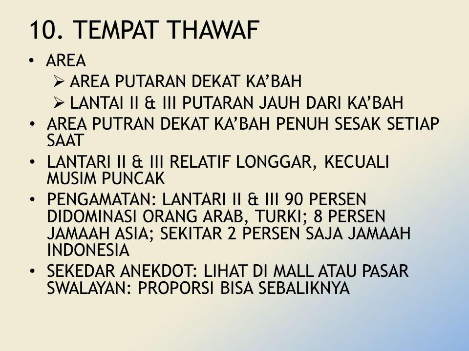 10. TEMPAT THAWAF AREA AREA PUTARAN DEKAT KA'BAH