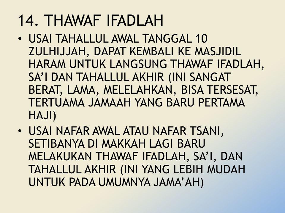 14. THAWAF IFADLAH