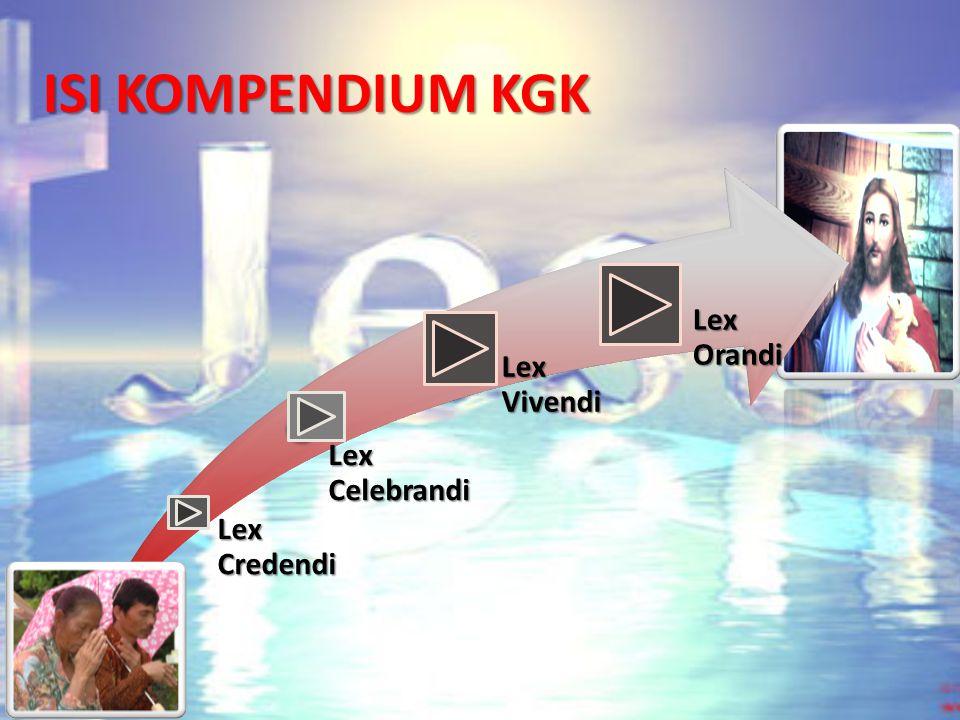 ISI KOMPENDIUM KGK Lex Credendi Lex Celebrandi Lex Vivendi Lex Orandi