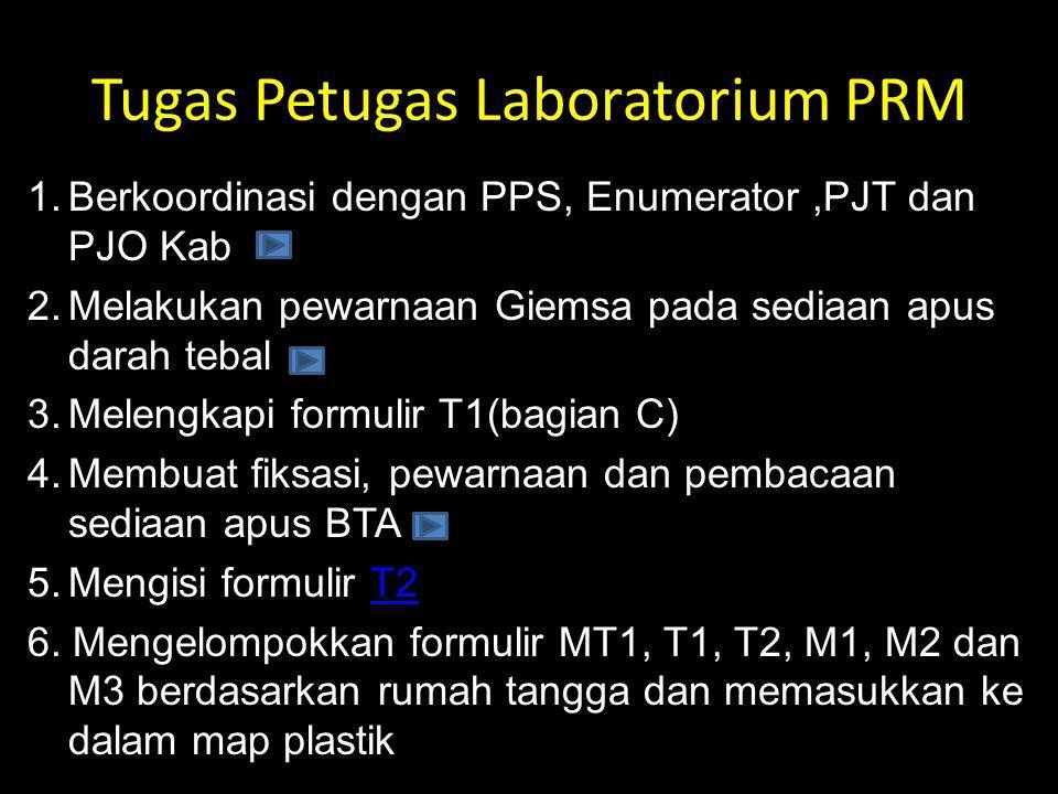 Tugas Petugas Laboratorium PRM