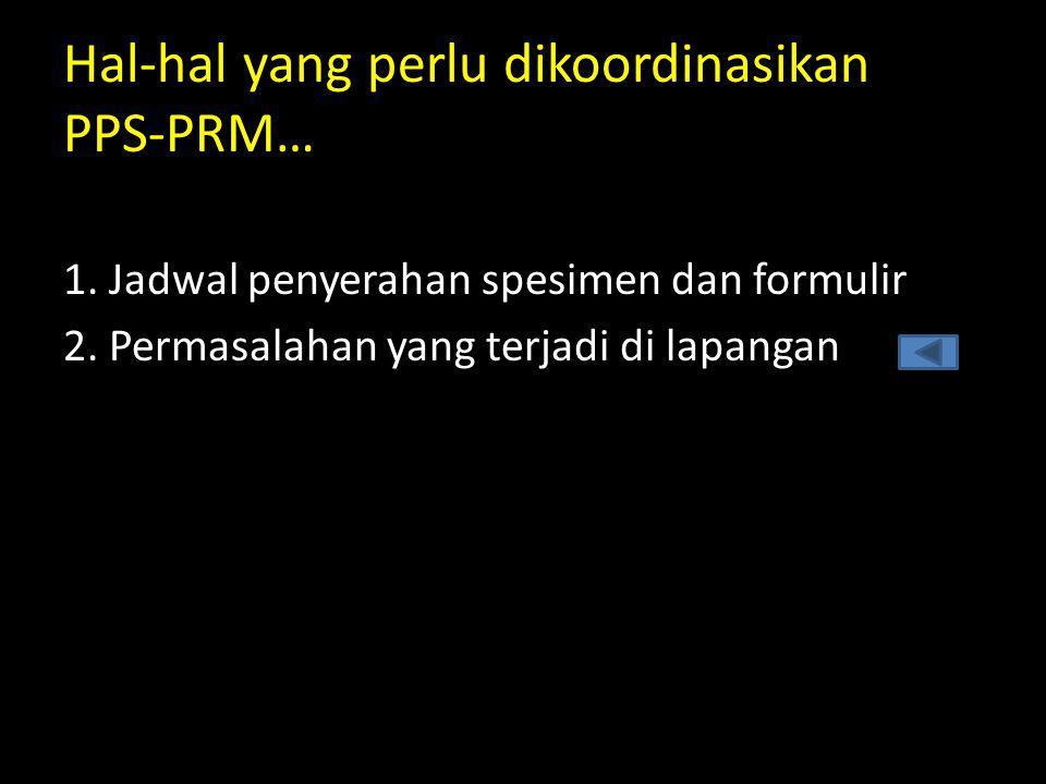 Hal-hal yang perlu dikoordinasikan PPS-PRM…