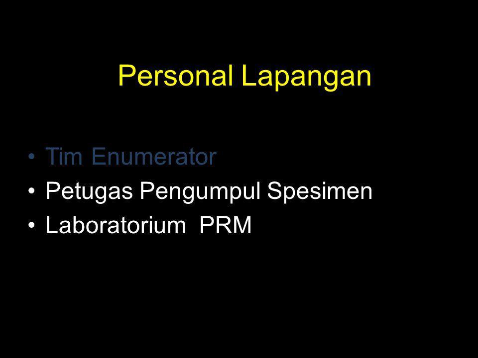 Personal Lapangan Tim Enumerator Petugas Pengumpul Spesimen