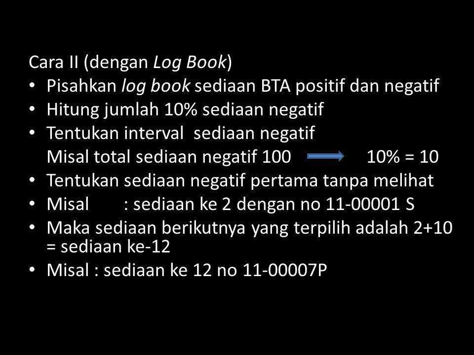 Cara II (dengan Log Book)