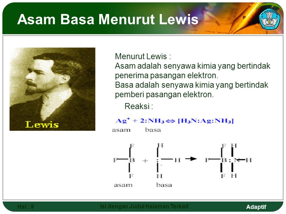 Asam Basa Menurut Lewis