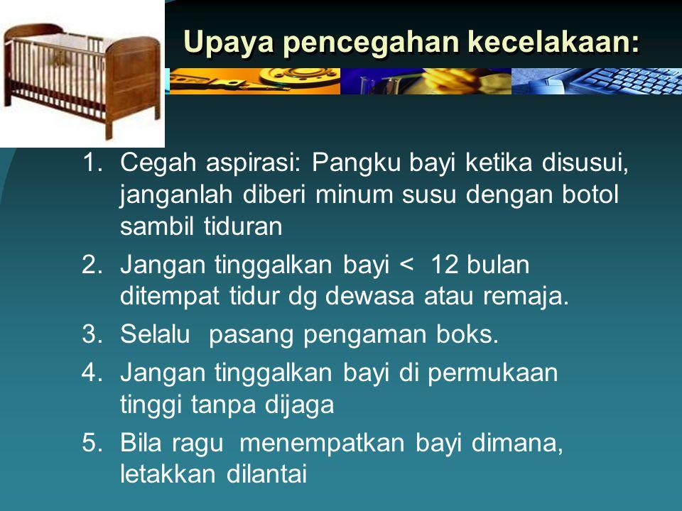 Upaya pencegahan kecelakaan: