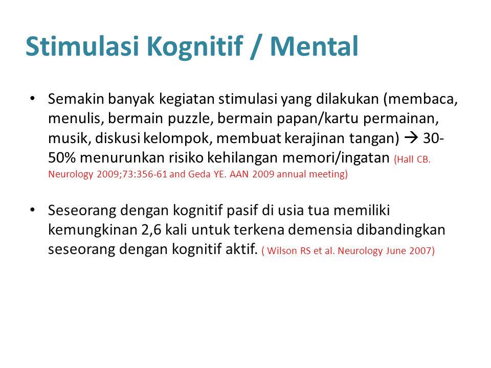 Stimulasi Kognitif / Mental