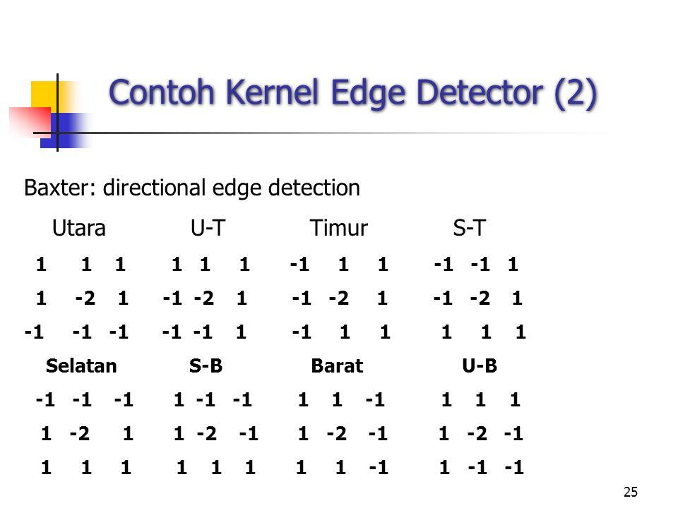 Contoh Kernel Edge Detector (2)