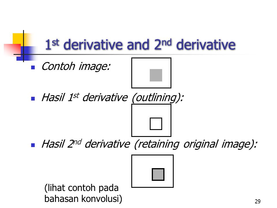 1st derivative and 2nd derivative