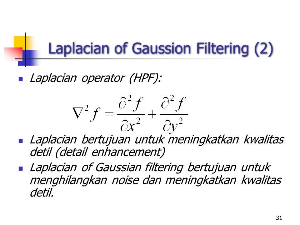 Laplacian of Gaussion Filtering (2)