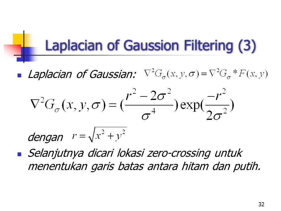 Laplacian of Gaussion Filtering (3)