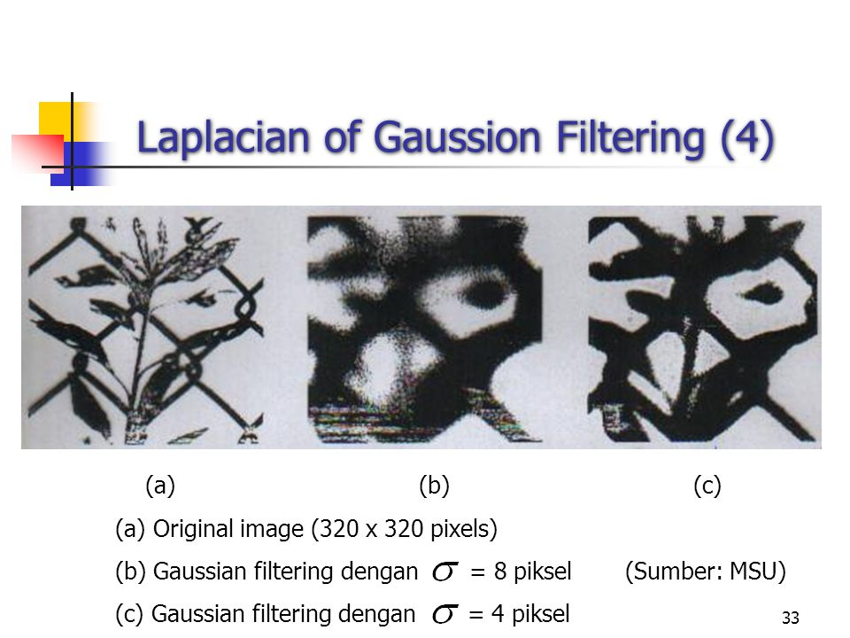 Laplacian of Gaussion Filtering (4)