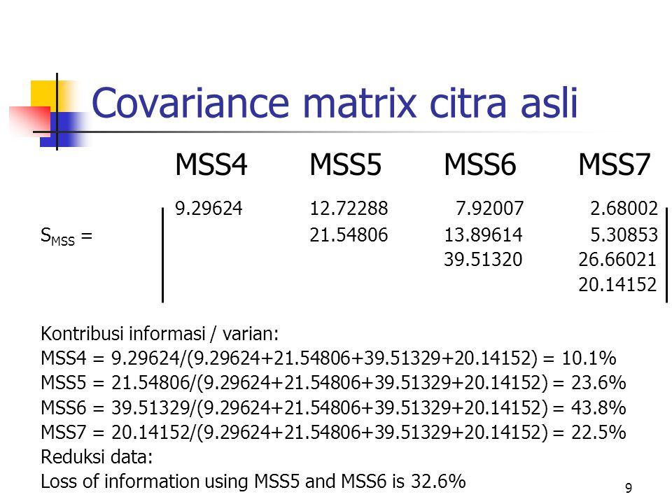 Covariance matrix citra asli