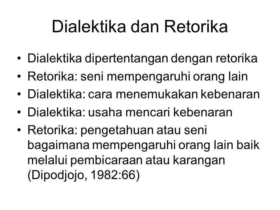 Dialektika dan Retorika