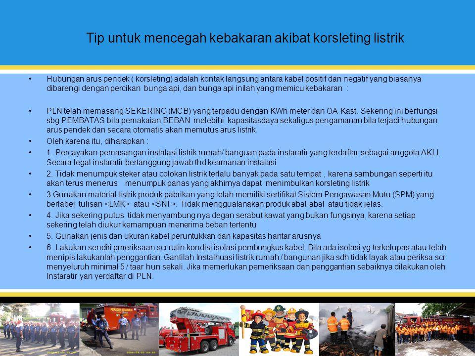 Tip untuk mencegah kebakaran akibat korsleting listrik