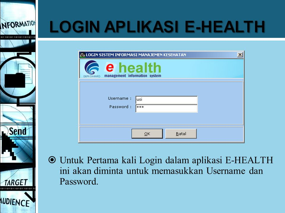 LOGIN APLIKASI E-HEALTH