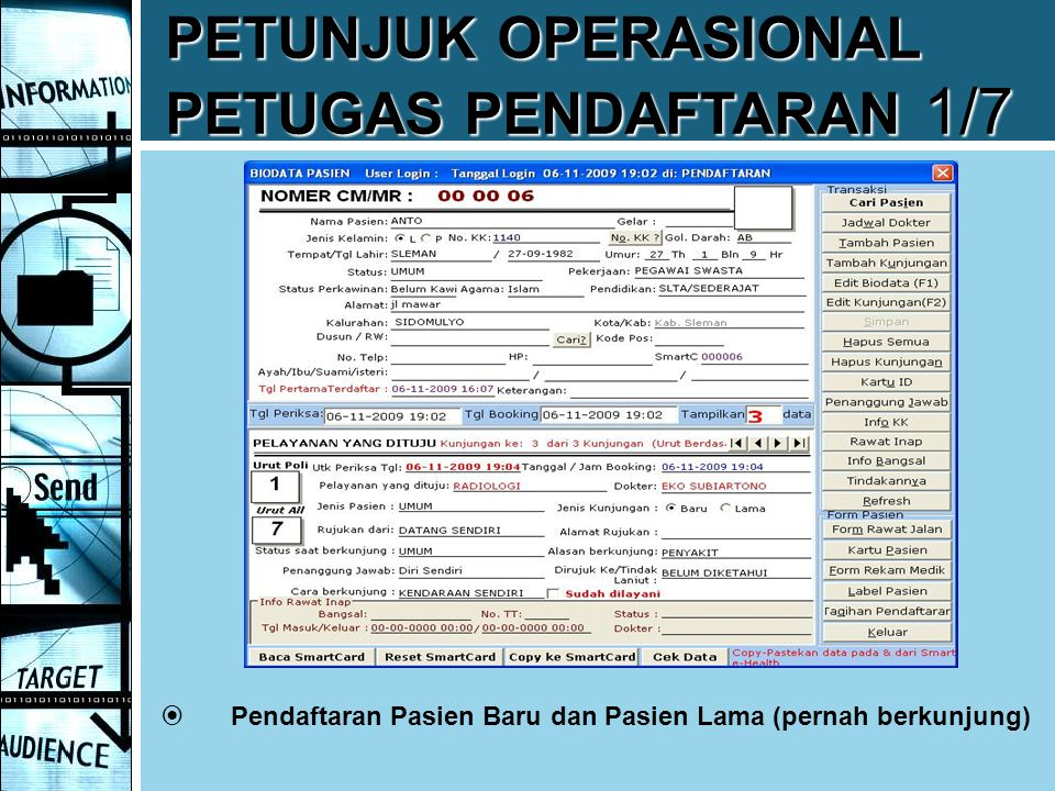 PETUNJUK OPERASIONAL PETUGAS PENDAFTARAN 1/7
