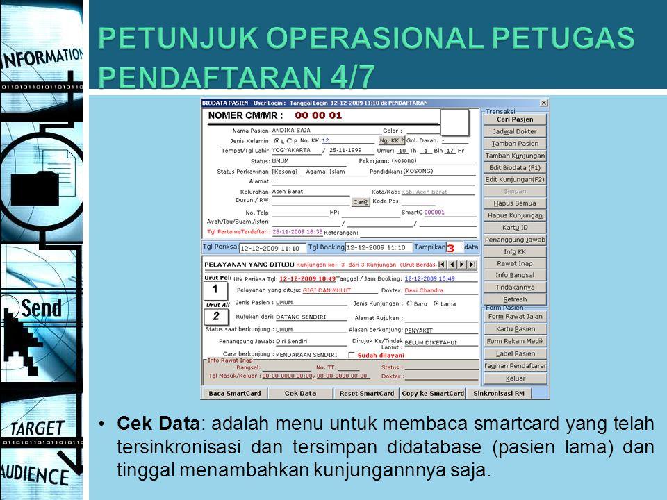 PETUNJUK OPERASIONAL PETUGAS PENDAFTARAN 4/7