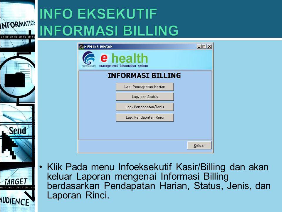 INFO EKSEKUTIF INFORMASI BILLING