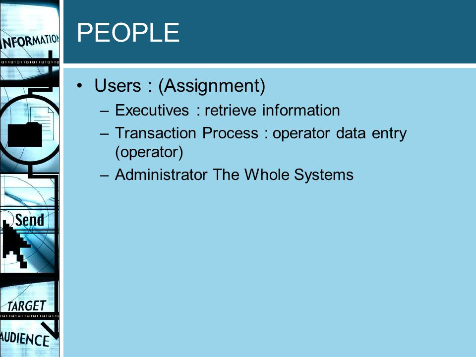 PEOPLE Users : (Assignment) Executives : retrieve information