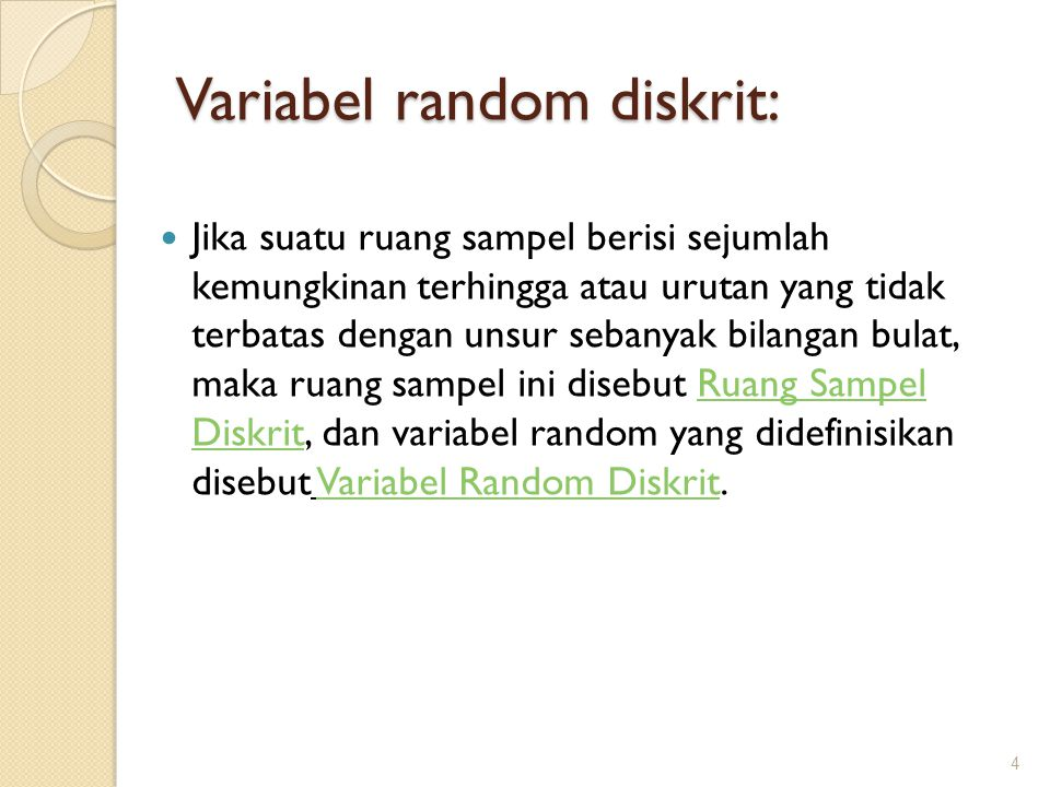 Variabel random diskrit: