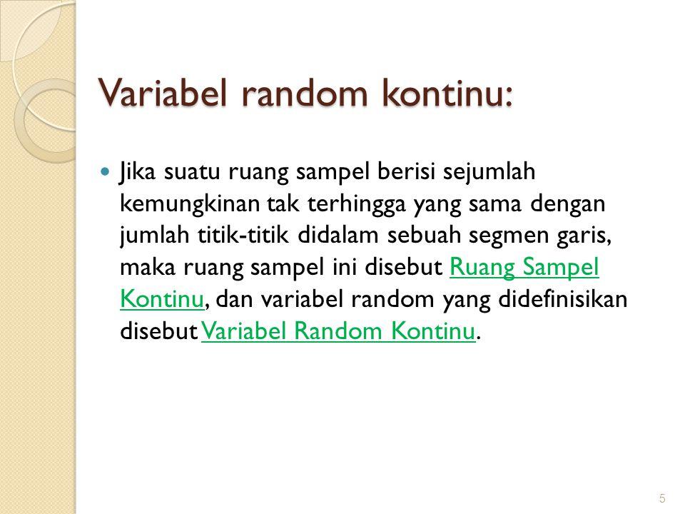Variabel random kontinu: