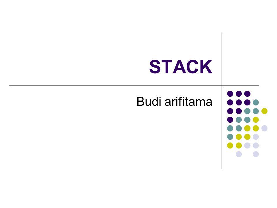 STACK Budi arifitama