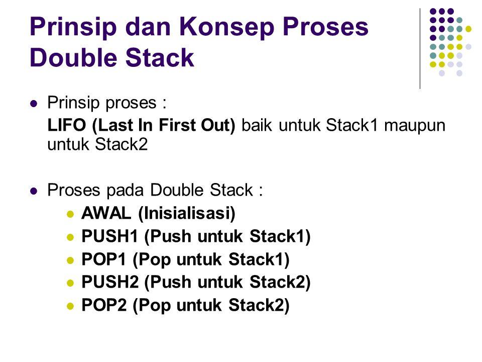 Prinsip dan Konsep Proses Double Stack