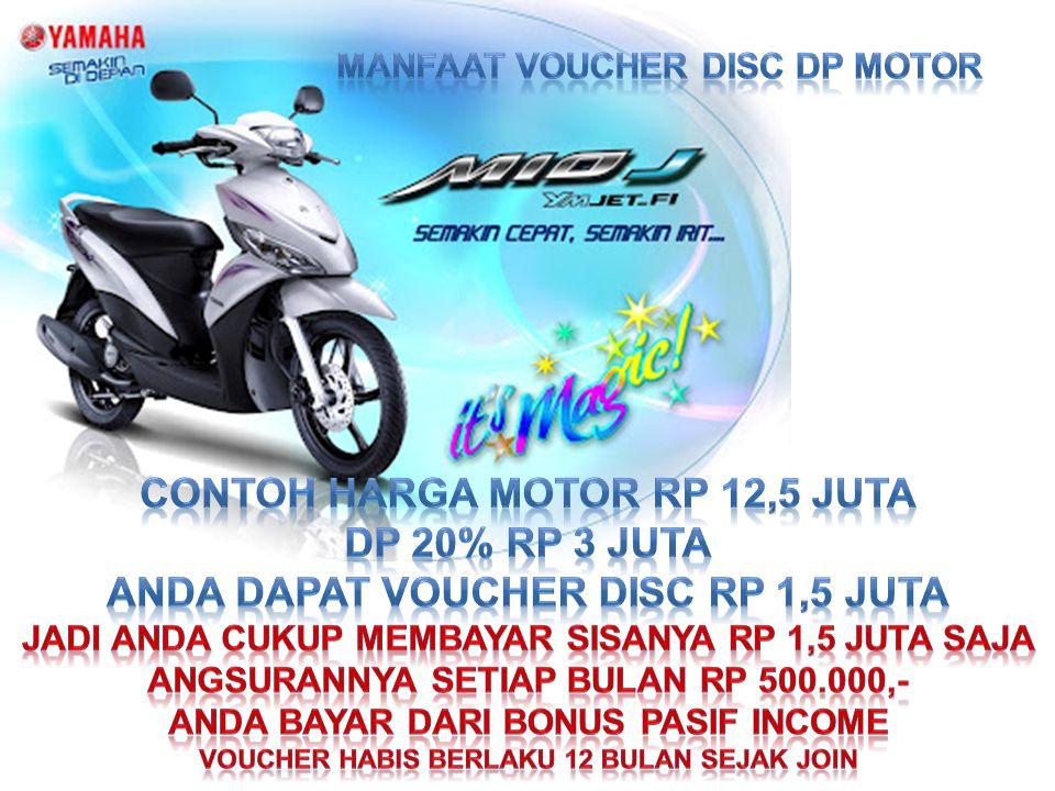 CONTOH HARGA MOTOR Rp 12,5 JUTA DP 20% RP 3 JUTA