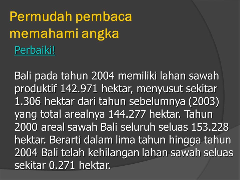 Permudah pembaca memahami angka