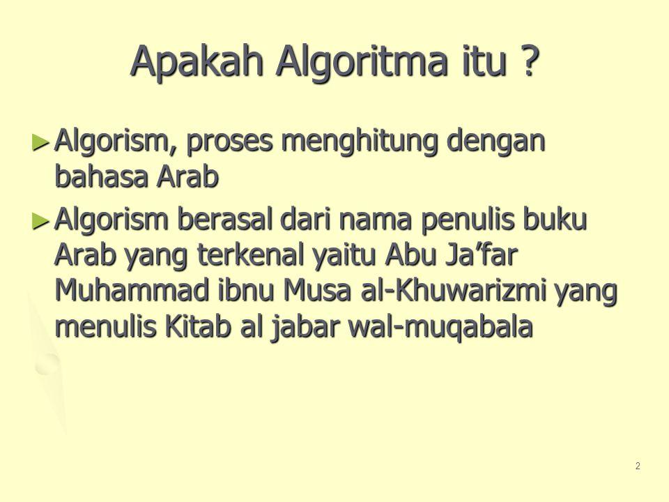 Apakah Algoritma itu Algorism, proses menghitung dengan bahasa Arab