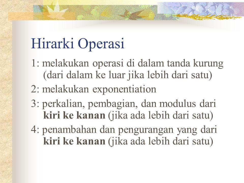 Hirarki Operasi