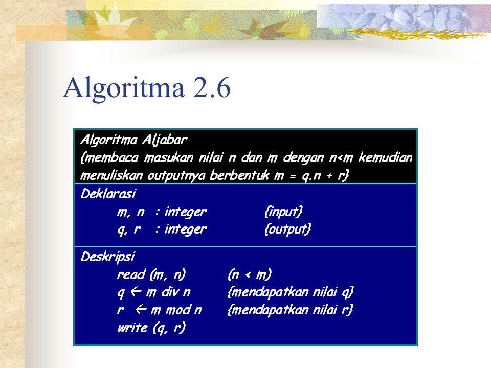 Algoritma 2.6