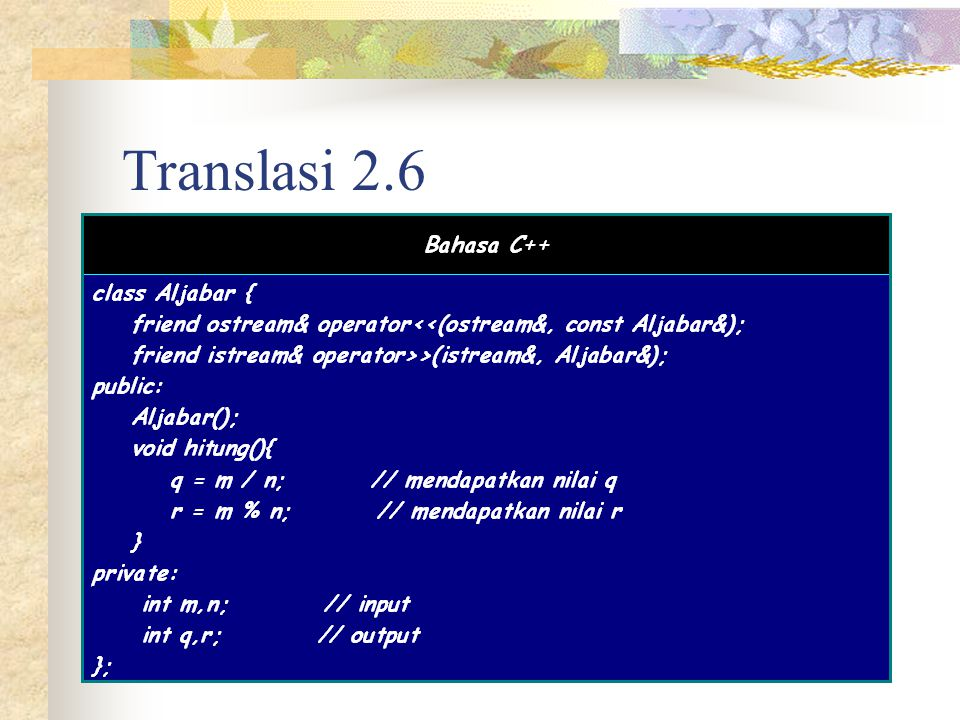 Translasi 2.6